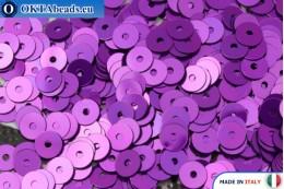 Итальянские плоские пайетки Viola Metal (5389) 4мм, 2гр ITP-P4-5389