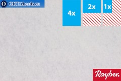 Modelling felt Rayher white ~1,5mm, 22x15cm rayher-011