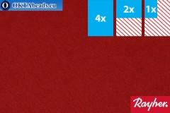 Modelling felt Rayher claret ~1,5mm, 22x15cm rayher-007