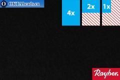 Modelling felt Rayher black ~1,5mm, 22x15cm rayher-001