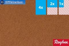 Modelling felt Rayher medium brown ~1,5mm, 22x15cm rayher-008