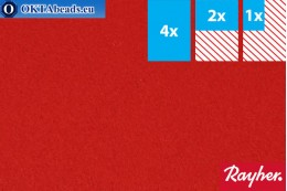 Modelovací filc Rayher červený ~1,5mm, 22x15cm rayher-009