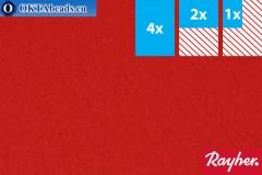 Modelling felt Rayher red ~1,5mm, 22x15cm rayher-009