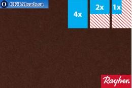 Modelovací filc Rayher hnědý ~1,5mm, 22x15cm rayher-006