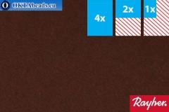 Modelling felt Rayher brown ~1,5mm, 22x15cm rayher-006
