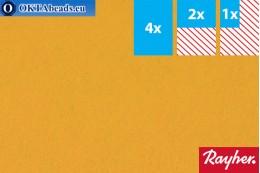 Modelovací filc Rayher žlutý ~1,5mm, 22x15cm rayher-005