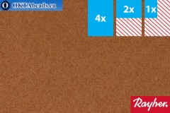 Моделируемый фетр Rayher каштановый ~1,5мм, 22x15см