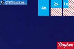 Моделируемый фетр Rayher темно-синий ~1,5мм, 22x15см
