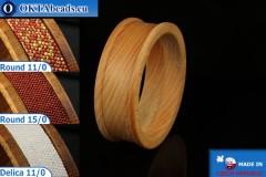 Base for bracelet Oak ~30mm, 1pc CUF04