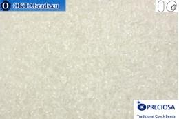 Прециоза чешский бисер 1 сорт кристалл (00050) 9/0, 50гр R09PR00050