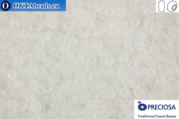Preciosa czech seed beads 1 quality crystal matte (00050) 10/0, 50g R10PR00050m
