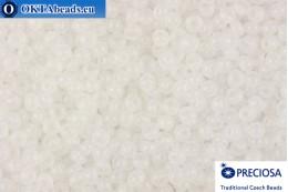 Прециоза чешский бисер 1 сорт белый (02090) 9/0, 50гр R09PR02090