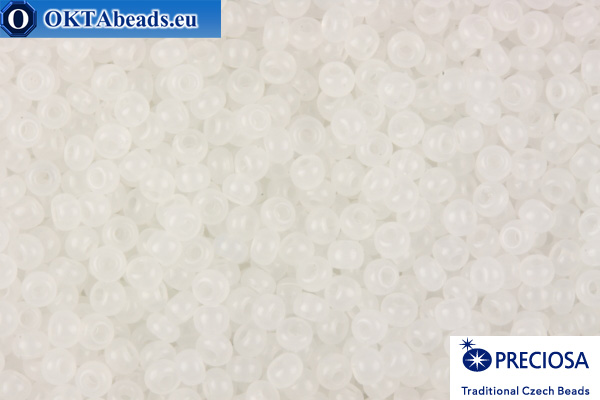 Preciosa czech seed beads 1 quality white (02090) 9/0, 50g