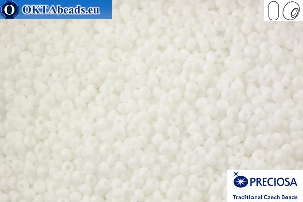 Прециоза чешский бисер 1 сорт белый (03050) 13/0, 50гр