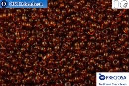 Прециоза чешский бисер 1 сорт коричневый (10110) 9/0, 50гр R09PR10110