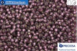 Прециоза чешский бисер 1 сорт фиолетовый с прокрасом серебром матовый (27060m) 9/0, 50гр R09PR27060m