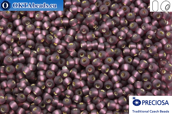 Preciosa czech seed beads 1 quality lilac silver line matte (27060m) 9/0, 50g