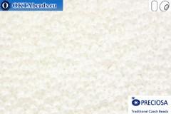 Прециоза чешский бисер 1 сорт белый глянцевый (46102) 13/0, 50гр