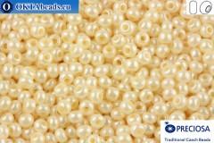 Прециоза чешский бисер 1 сорт бежевый жемчужный (46112) 13/0, 50гр