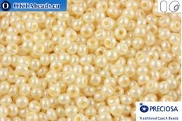 Прециоза чешский бисер 1 сорт бежевый жемчужный (46112) 9/0, 50гр R09PR46112