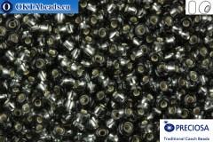 Preciosa český rokajl 1 jakost šedý stříbrné linie (47010) 8/0, 50g R08PR47010