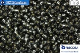 Preciosa czech seed beads 1 quality grey silver line (47010) 8/0, 50g R08PR47010