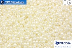 Preciosa czech seed beads 1 quality white pearl (47102) 9/0, 50g