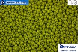 Прециоза чешский бисер 1 сорт зеленый (53430) 13/0, 50гр R13PR53430