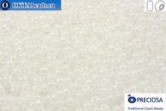 Прециоза чешский бисер 1 сорт белый глянцевый (57102) 8/0, 50гр