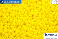 Preciosa czech seed beads 1 quality yellow matte (83110m) 10/0, 50g