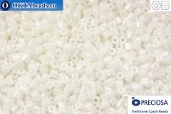 Прециоза чешская рубка 1 сорт белая жемчужный (46102) 11/0, 50гр C11PR46102