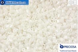 Preciosa český dvoukrátky 1 jakost bílý perlový (46102) 11/0, 50g