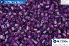 Прециоза чешская рубка 1 сорт фиолетовая радужная с прокрасом (24012) 10/0, 50гр C10PR24012