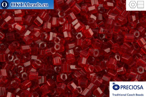 Preciosa český dvoukrátky 1 jakost granát (90070) 11/0, 50g C11PR90070