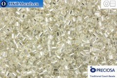 Preciosa czech 2cut 1 quality crystal silver line (78102) 11/0, 50g