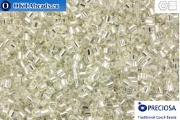 Прециоза чешская рубка 1 сорт кристалл с прокрасом серебром (78102) 11/0, 50гр C11PR78102