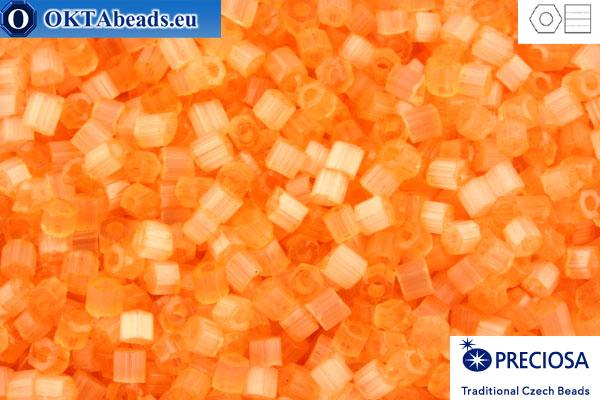 Preciosa český dvoukrátky 1 jakost oranžový silk (05184) 11/0, 50g