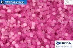 Прециоза чешская рубка 1 сорт розовая шелк (05692) 11/0, 50гр C11PR05692
