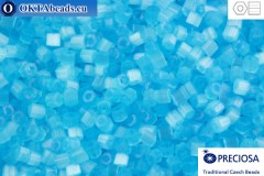 Preciosa czech 2cut 1 quality blue silk (05134) 11/0, 50g
