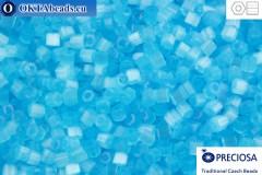 Preciosa český dvoukrátky 1 jakost modrý silk (05134) 11/0, 50g