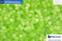 Preciosa český dvoukrátky 1 jakost zelený silk (05154) 11/0, 50g