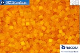 Preciosa český dvoukrátky 1 jakost žlutý silk (85091) 11/0, 50g
