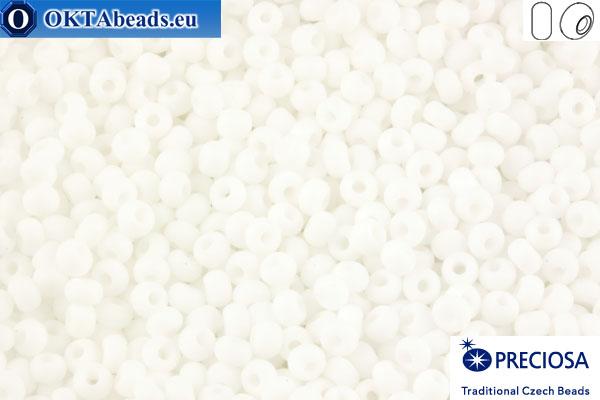 Прециоза чешский бисер 1 сорт белый матовый (03050m) 9/0, 50гр R09PR03050m