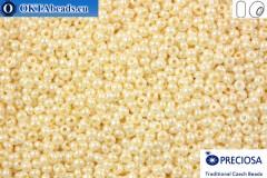 Прециоза чешский бисер 1 сорт бежевый жемчужный (46113) 11/0, 50гр