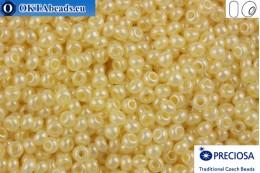 Прециоза чешский бисер 1 сорт бежевый жемчужный (47113) 9/0, 50гр R09PR47113