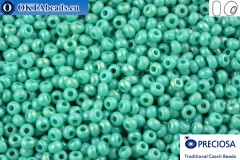 Preciosa czech seed beads 1 quality turquoise luster (64130) 10/0, 50g