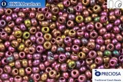 Прециоза чешский бисер 1 сорт фиолетовый ирис (19195) 6/0, 50гр R06PR19195