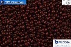 Прециоза чешский бисер 1 сорт коричневый (93310) 10/0, 50гр