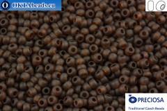 Прециоза чешский бисер 1 сорт коричневый матовый (10110m) 10/0, 50гр