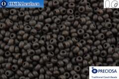 Прециоза чешский бисер 1 сорт коричневый матовый (10140m) 10/0, 50гр